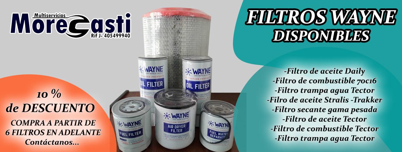 filtros wayne