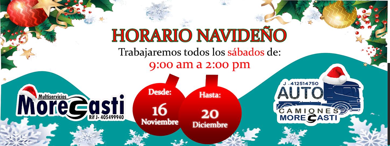 banner morecasti y autocamiones horario navideño